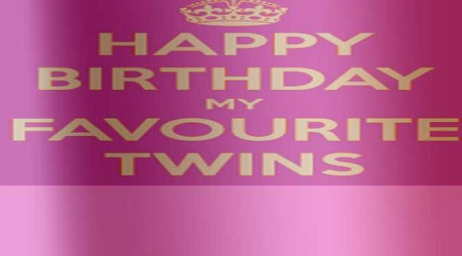 birthday banner-twins