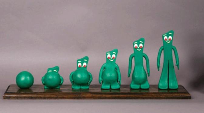 Gumby en Pokey kleifiguurtjes