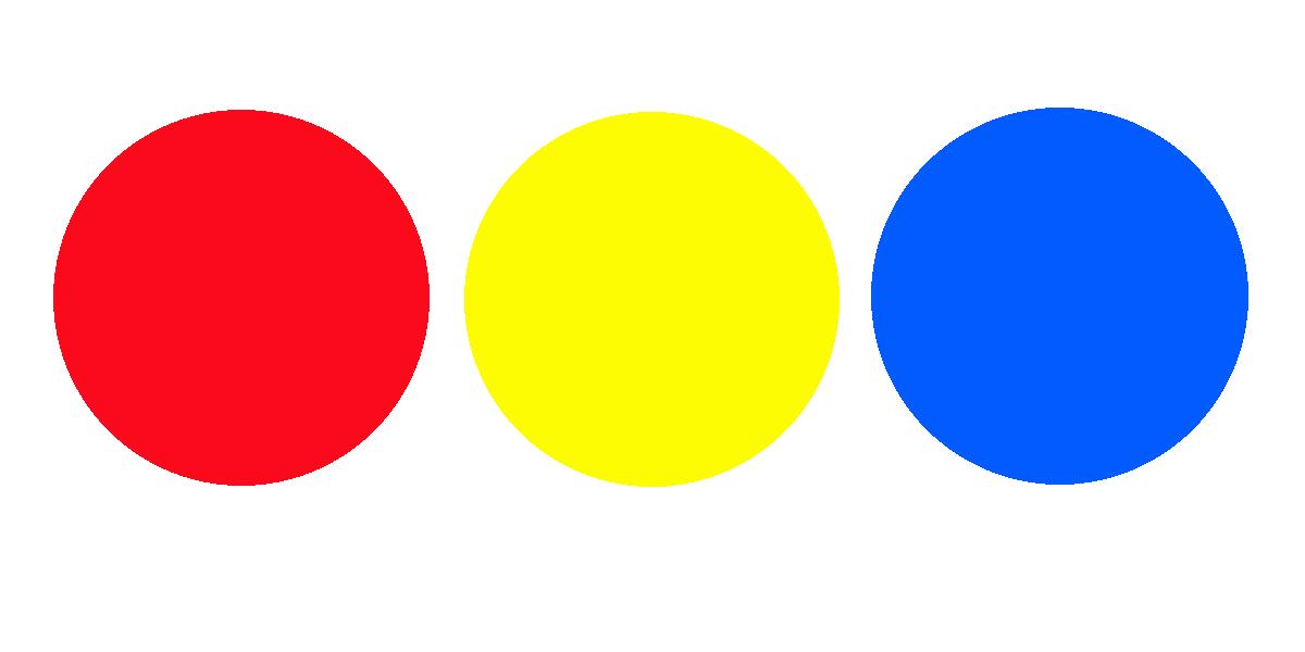 primaire kleuren rood geel en blauw
